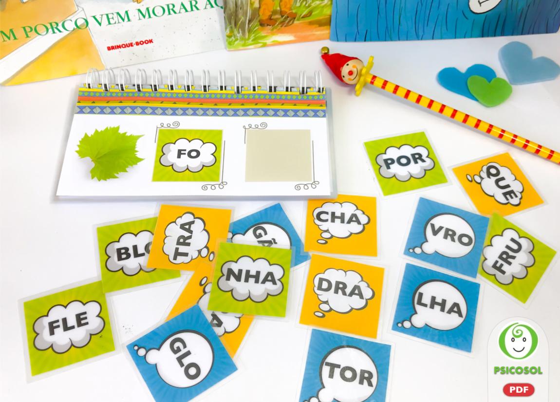 Varal para formar palavras com sílabas complexas